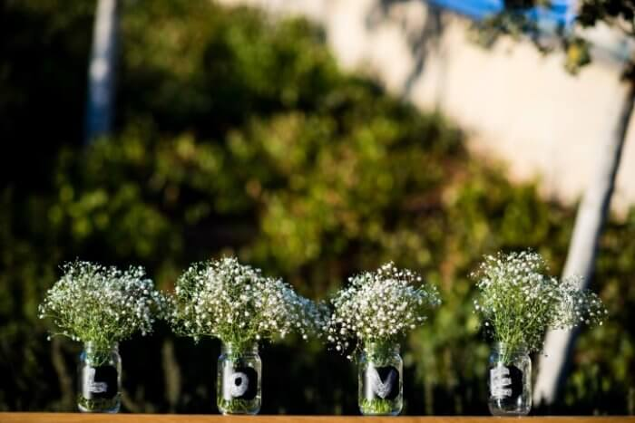 Flowers that decorate a wedding